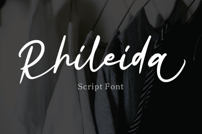 Rhileida - Script Font