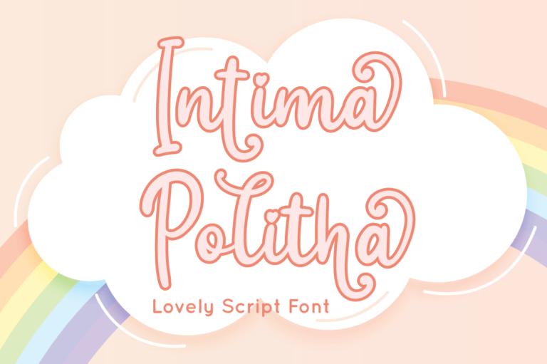 Intima Politha - Script Font