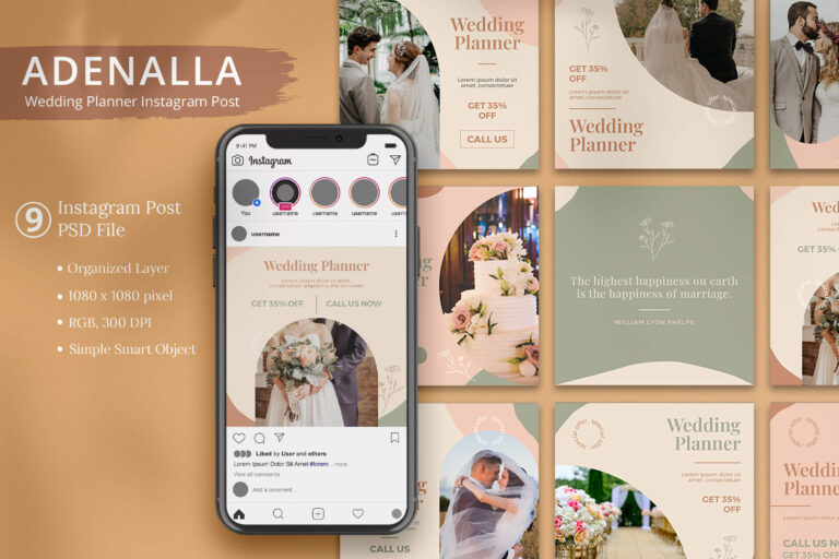 Adenalla - Wedding Planner Instagram Post