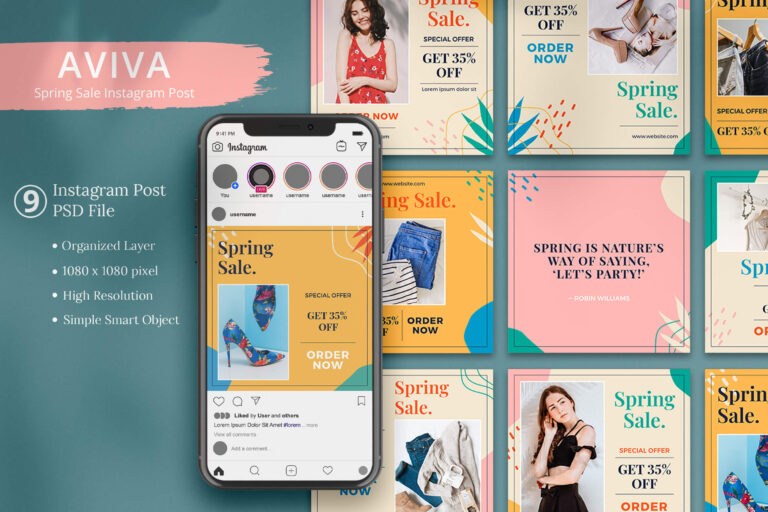 Aviva - Spring Sale Instagram Post
