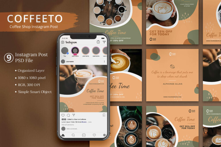 Coffeeto - Coffee Shop Instagram Post