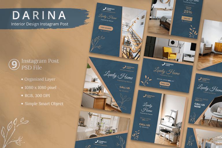 Darina - Interior Design Instagram Post Template