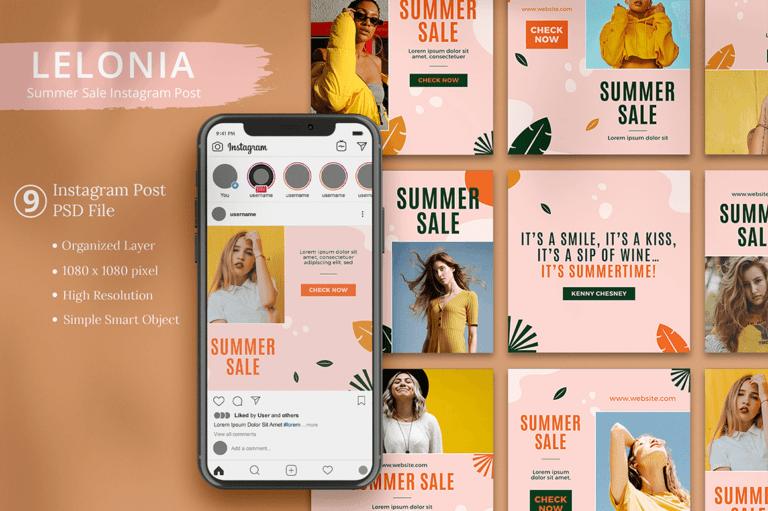 Lelonia - Summer Sale Instagram Post
