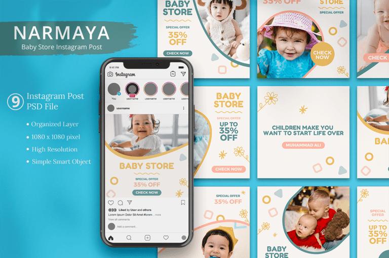 Narmaya - Baby Store Instagram Post