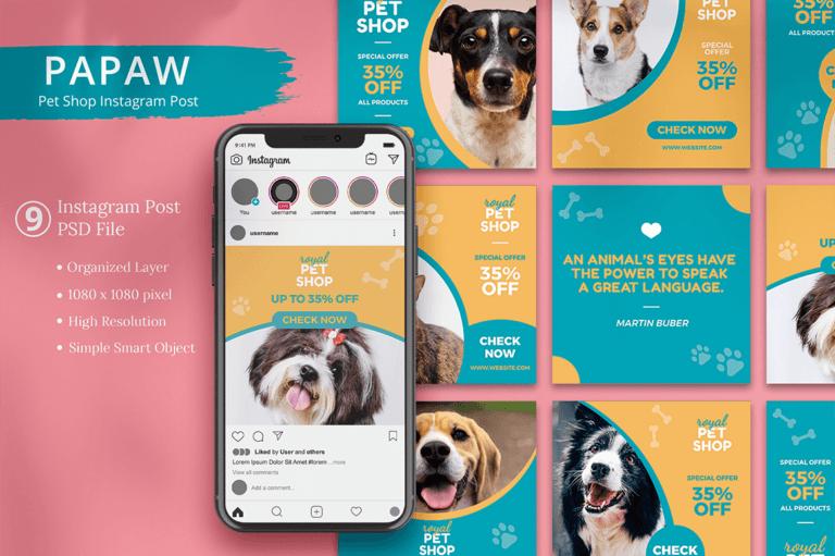 Papaw - Pet Shop Instagram Post