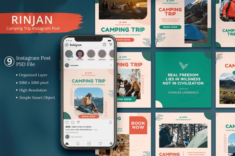 Rinjan - Camping Trip Instagram Post