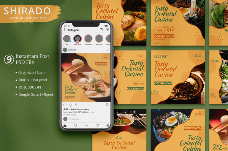 Shirado - Ramen Shop Instagram Template