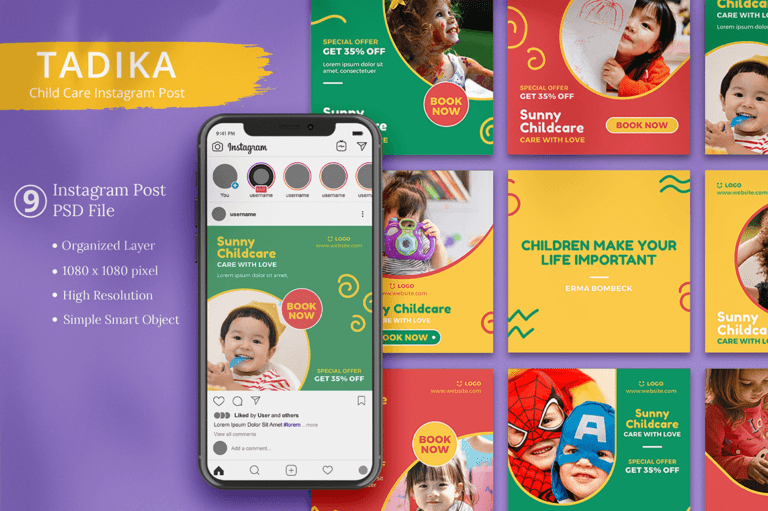 Tadika - Child Care Instagram Post