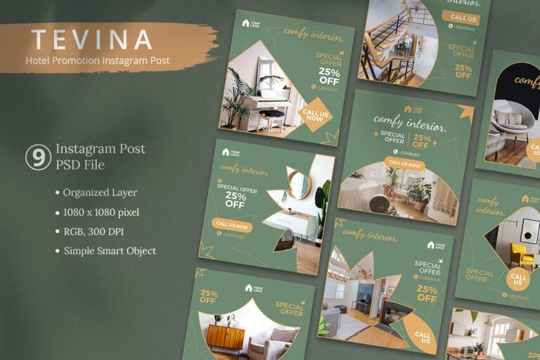 Tevina - Hotel Promotion Instagram Post