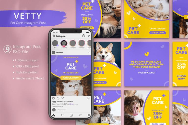 Vetty - Pet Care Instagram Post