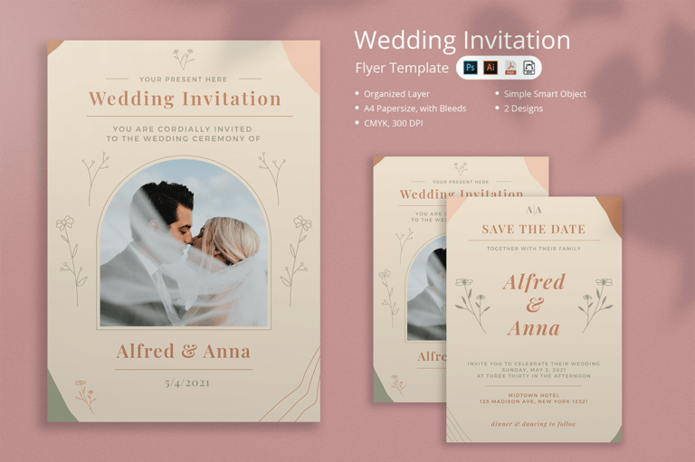 Preview image of Wedding Invitation Flyer