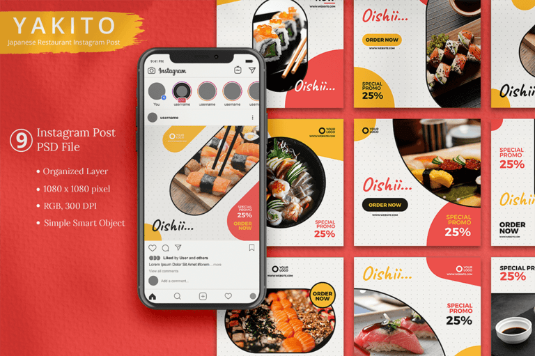 Yakito - Japanese Restaurant Instagram Template