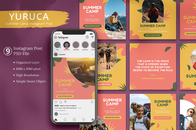 Yuruca - Summer Camp Instagram Post