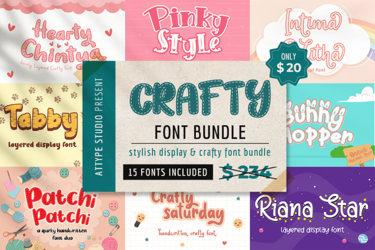 Crafty Font Bundle