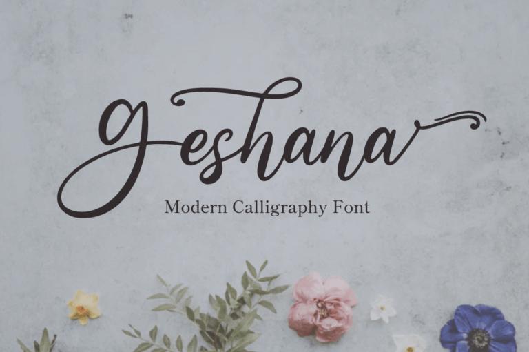 Geshana - Wedding Font