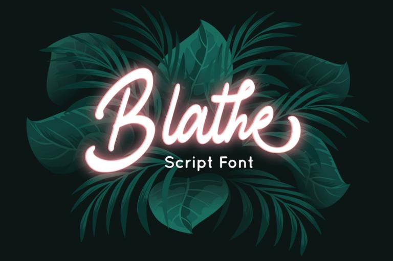 Blathe - Script Font