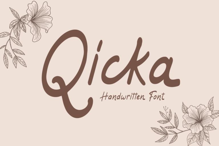 Qicka - Handwritten Font