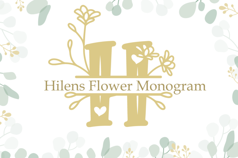 Hilens Flower Monogram