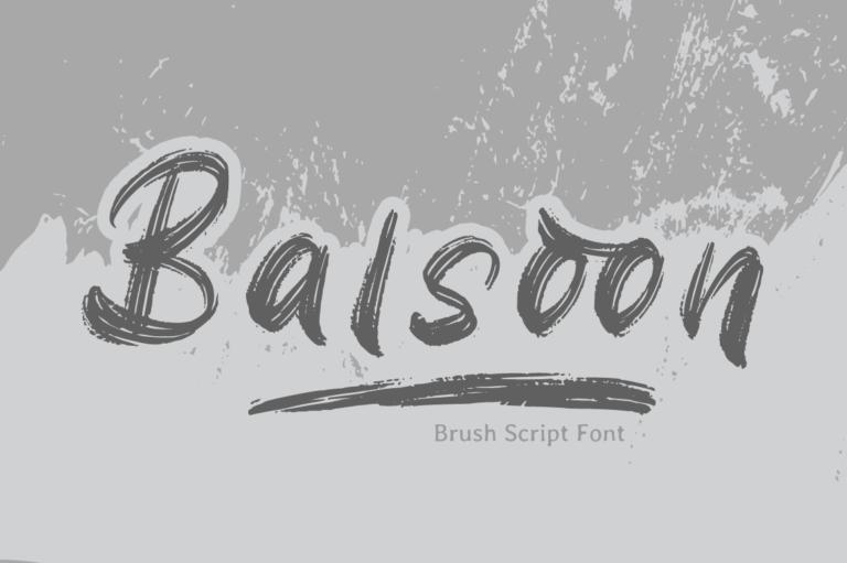 Balsoon - Brush Font
