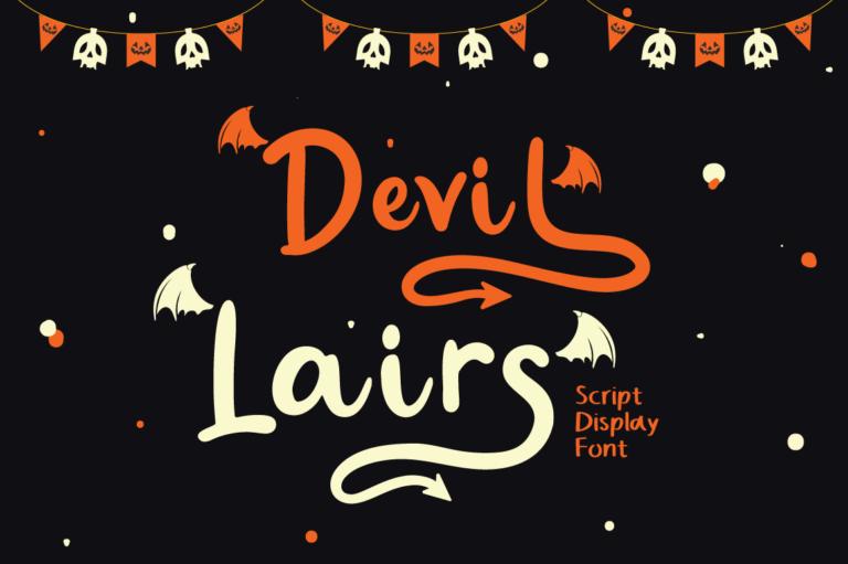 Devil Lairs - Halloween Font