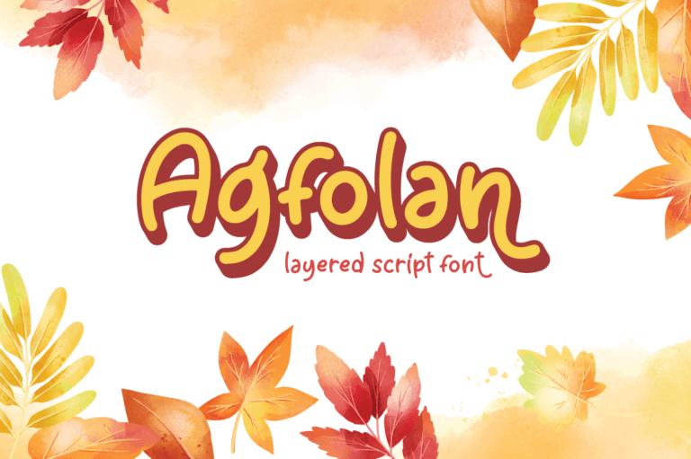 Agfolan - Layered Script Font
