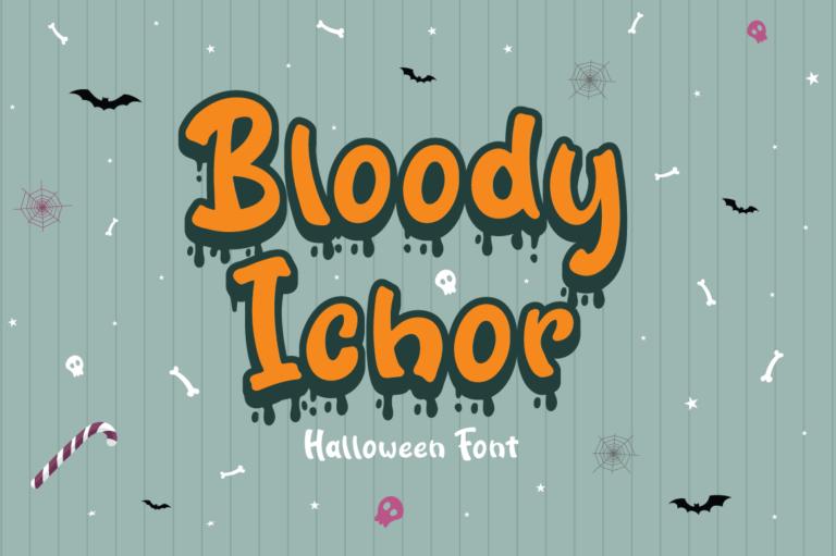 Bloody Ichor - Halloween Font