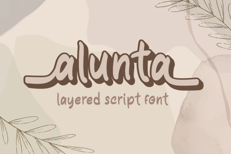 Alunta - Layered Script Font