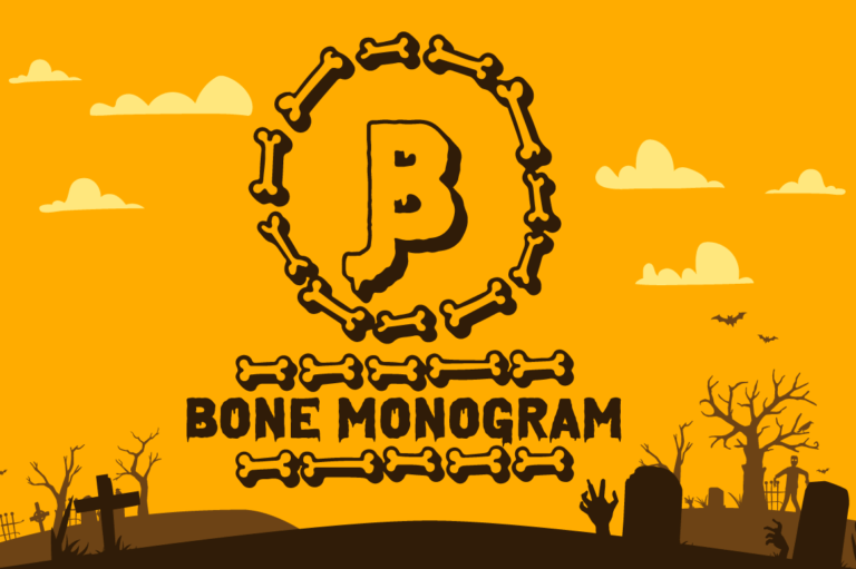 Bone Halloween Monogram