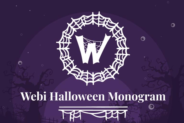 Webi Halloween Monogram