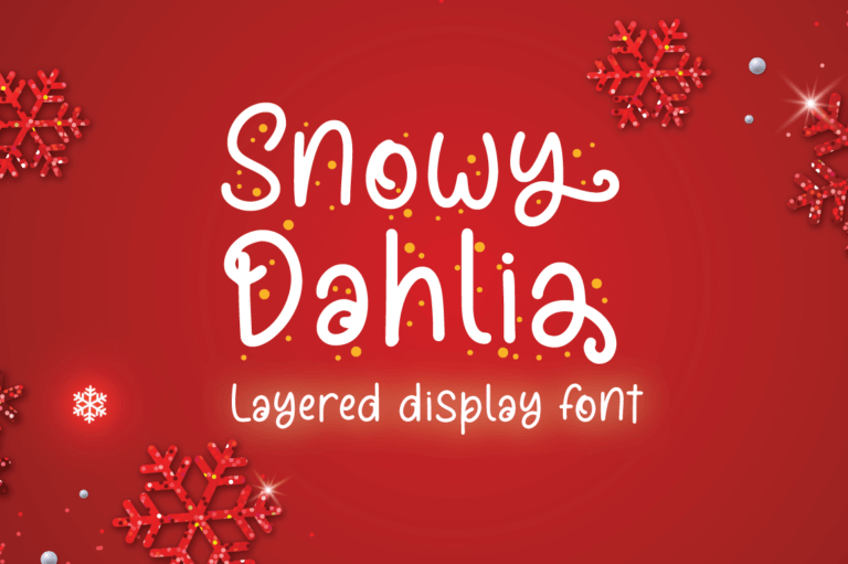 Preview image of Snowy Dahlia – Christmas Font