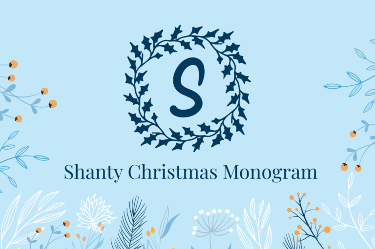 Shanty Christmas Monogram