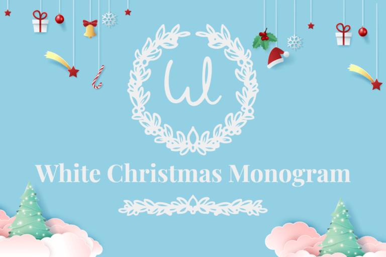 White Christmas Monogram