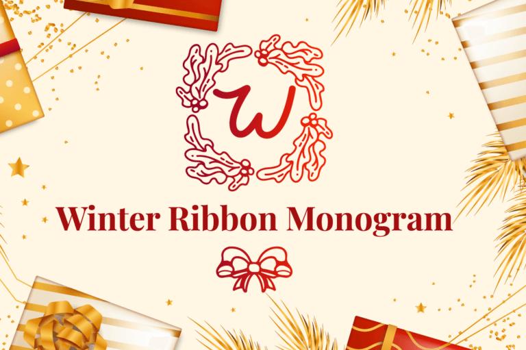 Winter Ribbon Monogram