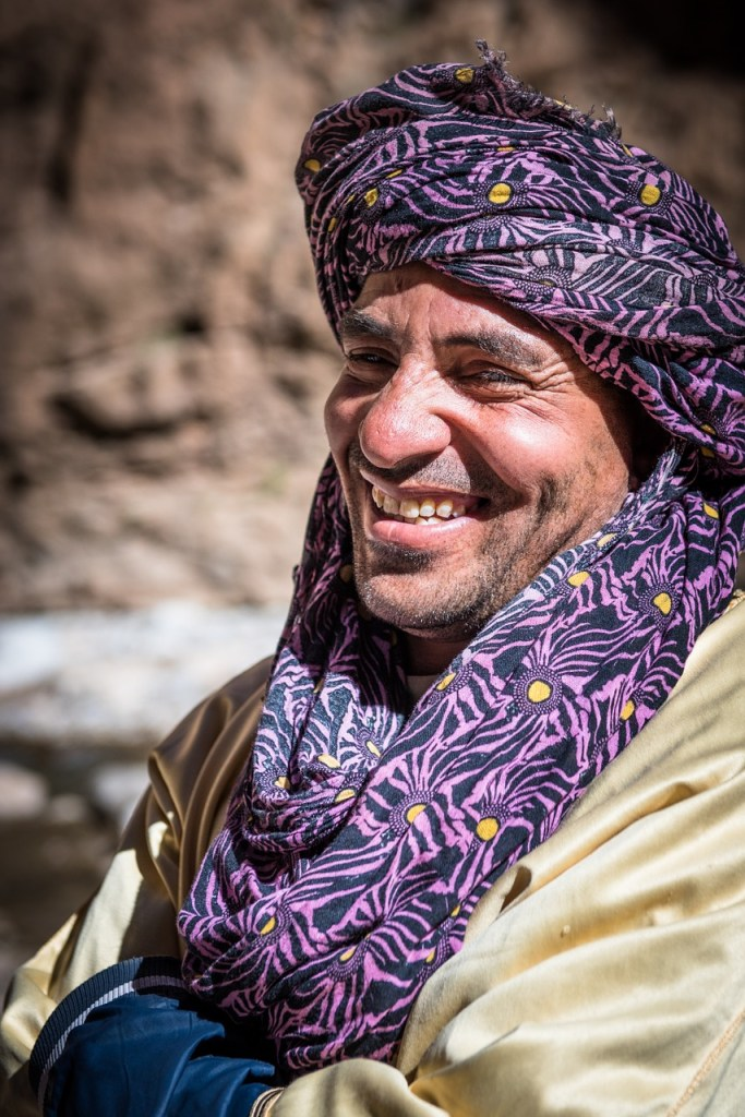 Moroccan man smile