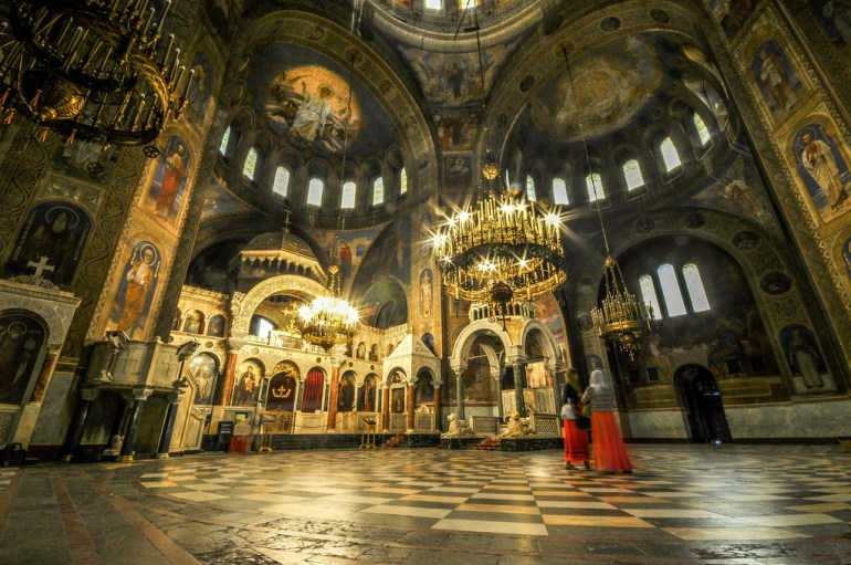 Interior of Alexander Nevsky Cathedral