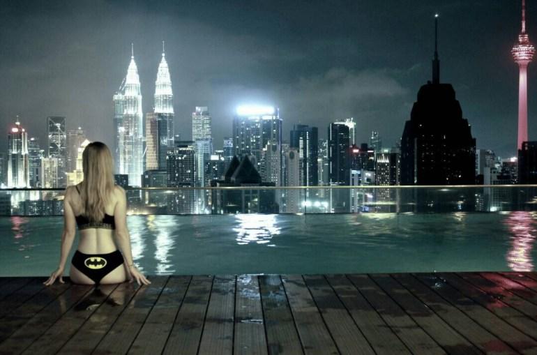 Rooftop swimming pool in Kuala Lumpur