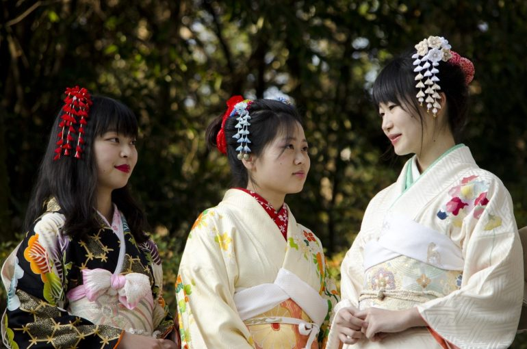 Kimono Japanese people