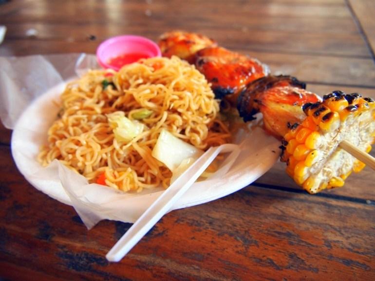 Noodles, Chicken, Corn, Sauce, 2 bucks, Kata Beach