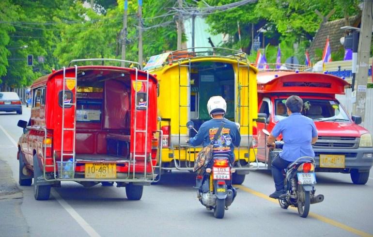 Bus in Chiang Mai Thailand