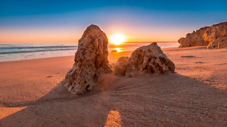 Sunset at the beach Portugal