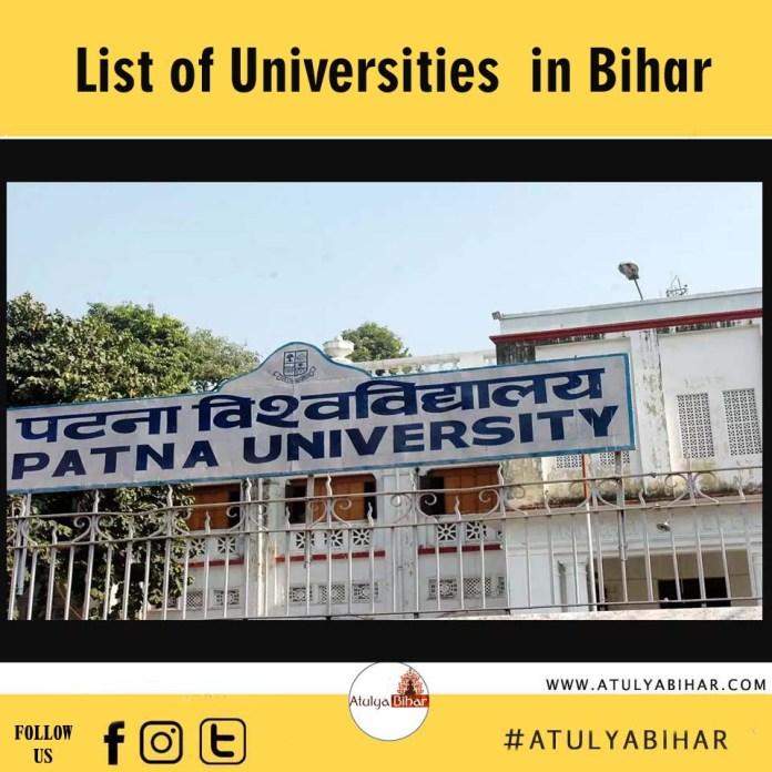 क्या आप जानते है की बिहार में कितने विश्वविद्यालय है