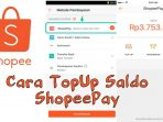 cara top up shopeepay