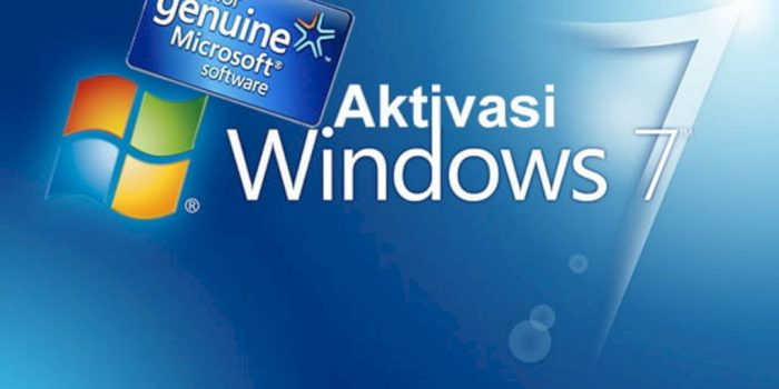 aktivasi windows 7