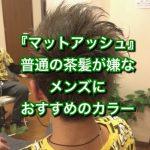 『マットアッシュ』メンズにおすすめのダブルカラー《大阪守口千林》