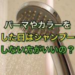 美容室でパーマやカラーをした日はシャンプーしない方がいいの?