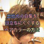 出始めの白髪をオシャレに目立ちにくくするヘアカラーの方法《大阪千林》