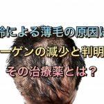 加齢による薄毛の原因はコラーゲンの減少と判明!その治療薬とは?