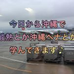 今日から沖縄で酸熱とか沖縄ヘナとか学んできます♪