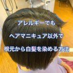 アレルギーでもヘアマニキュア以外で根元から白髪を染める方法
