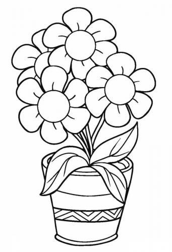 Disegni Fiori Stilizzati Da Colorare : disegni, fiori, stilizzati, colorare, Disegni, Fiori